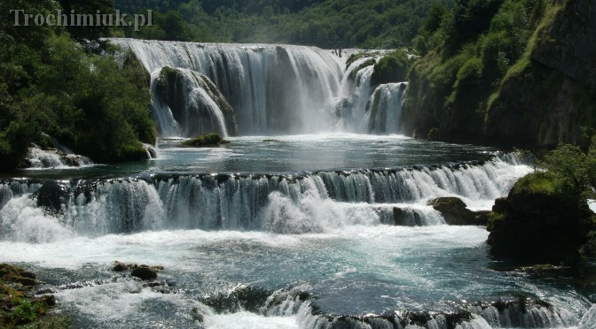 Bosnia and Herzegovina, Strbacki Buk waterfalls on theUna River.